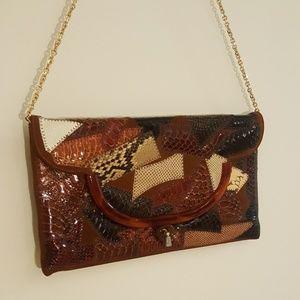 Handbags - Faux skin bag.